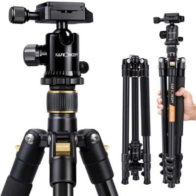 Compact Light Aluminium Tripod with Quick Release Plate