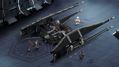 LEGO Star Wars The Last Jedi Kylo Ren's TIE Fighter Toy
