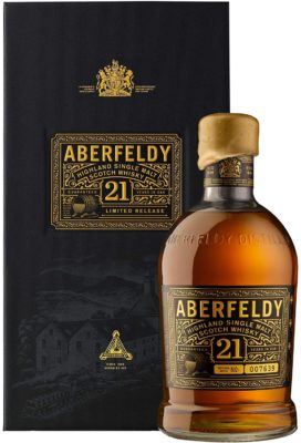 Aberfeldy 21 Year Old Highland Single Malt Scotch Whisky with Gift Box