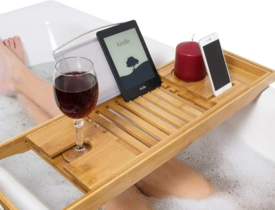 Bath Tray for a Home-Spa Experience