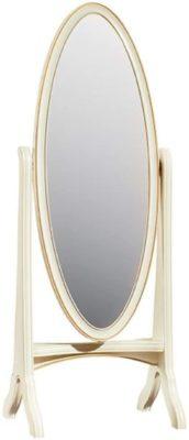 Oval luxury baroque standing mirror by Casa Padrino