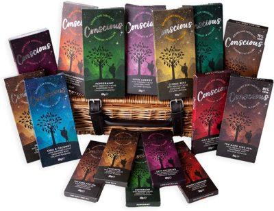 Conscious Chocolate Gift Hamper - Luxury Handmade Vegan Organic Dairy Free Chocolate