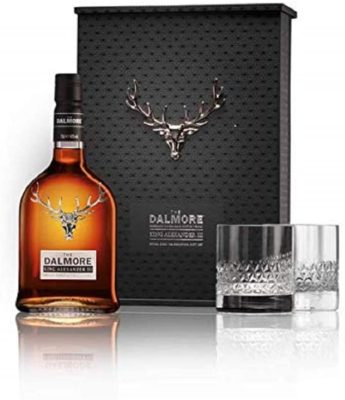 Dalmore King Alexander III Single Malt Whisky Gift Pack with Two Glasses