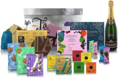 T'a Milano Gift Box with Selection of Sweets and Champagne