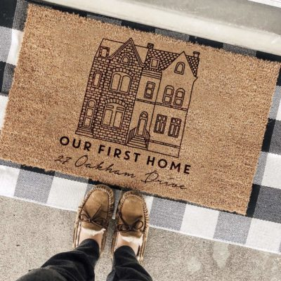 Personalised First House Coir Door Mat
