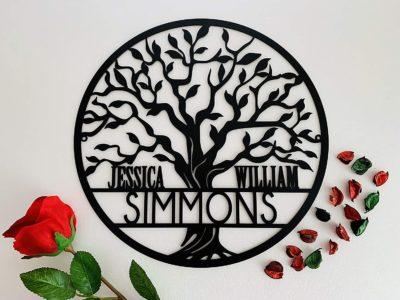 Personalised Tree of Life Metal Sign
