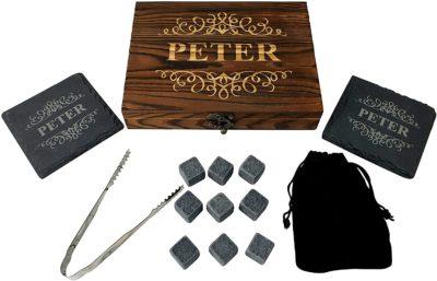 Personalised Whisky Stones Gift Set