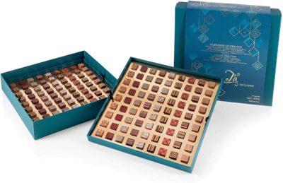 Ta Milano 162 Handmade Milk and Dark Chocolate Pralines in Gift Box