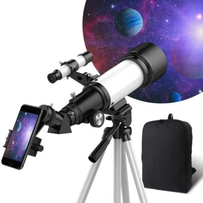 Astronomy Refractor Telescope with Tripod, Phone Adapter, Backpack
